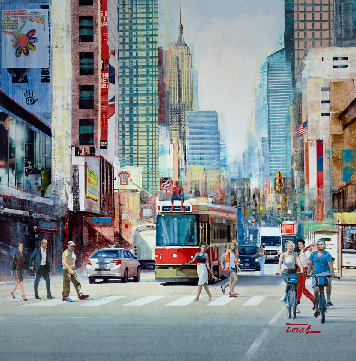City Life VI by Torabi -  sized 36x36 inches. Available from Whitewall Galleries